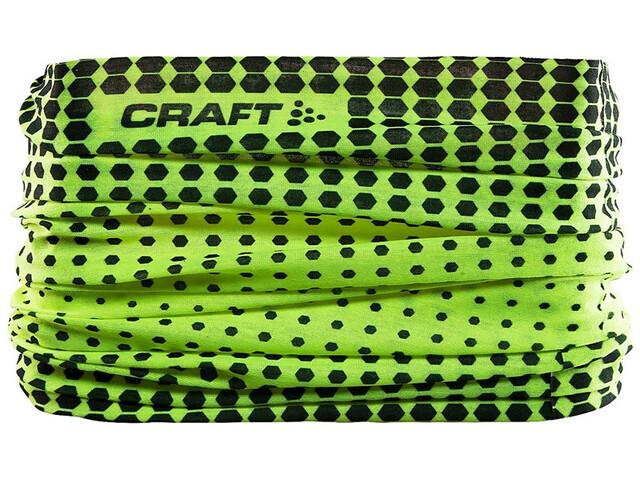 Craft Neck Tube Halsbedekking geel/zwart